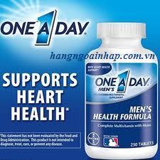 One A Day Men Health Formula - Xuất xứ Mỹ Vitamin