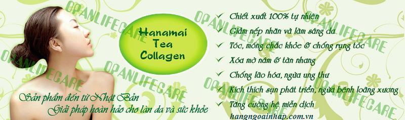 Hanamai collagen tinh chất trà xanh từ Nhật