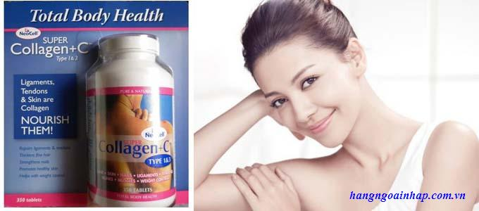 Collagen + C 350 viên - Collagen Mỹ Neocell Super