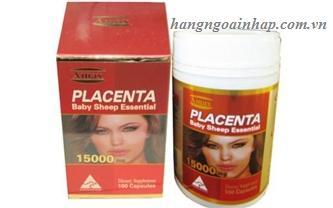 nhau thai cừu Amax Placenta 15000mg của Úc hộp 100 viên