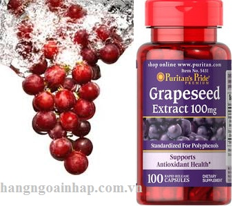 Grapeseed Extract 100mg puritans pride 100 viên của mỹ