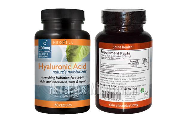 Neocell Hyaluronic Acid 100mg  Của Mỹ Hộp 60 Viên