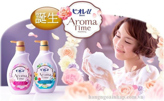 Sữa Tắm KAO AROMA TIME 550ml + REFILL 400ml của Nhật Bản