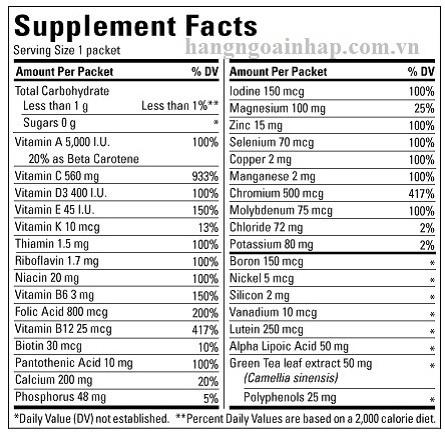 Thuốc điều hòa tiểu đường Nature Made® Diabetes Health Pack  60 gói của Mỹ