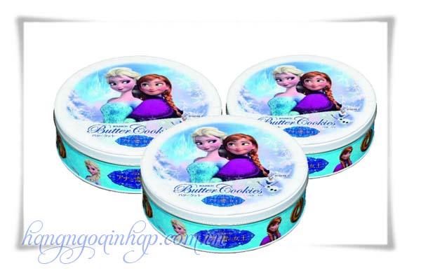 Bánh Quy Bơ Butter Cookies Disney Hộp hình tròn Của Nhật