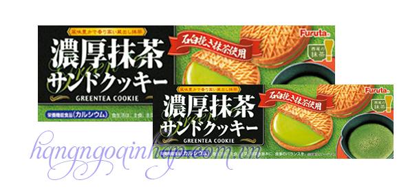 Bánh Quy Kem Trà Xanh Furuta Của Nhật Bản Hộp 10,3g