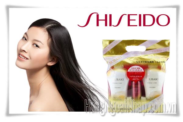 Dầu Gội  Shiseido Tsubaki Màu Trắng Bộ 3 Của Nhật
