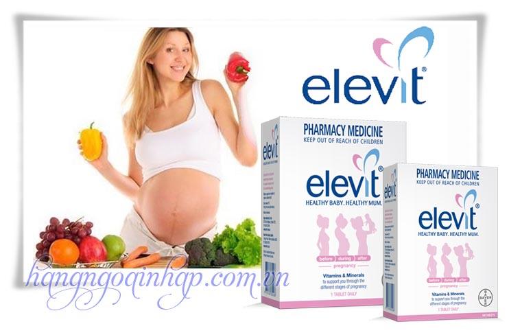Vitamin Cho Bà Bầu Elevit Healthy Baby.Healthy Mum Của Úc 100 Viên