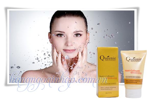 Gel Tẩy Tế Bào Chết Queenie Nutri Collagen Whitening hộp 100g Của Hàn Quốc