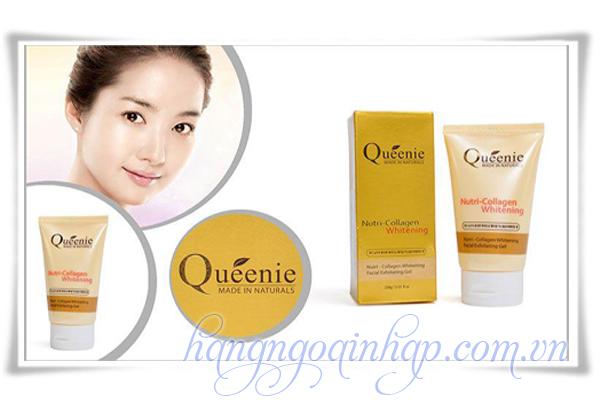 Gel Tẩy Tế Bào Chết Queenie Nutri Collagen Whitening Của Hàn Quốc hộp 100g