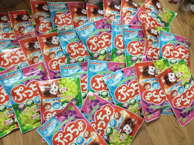 Kẹo Dẻo Vị Trái Cây UHA Của Nhật Gói 100g