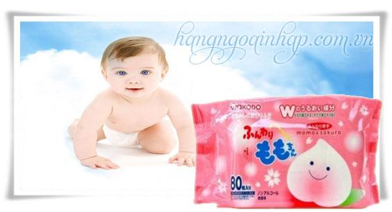 Khăn Ướt Cho Trẻ Em Wakado  80 Miếng Của Nhật