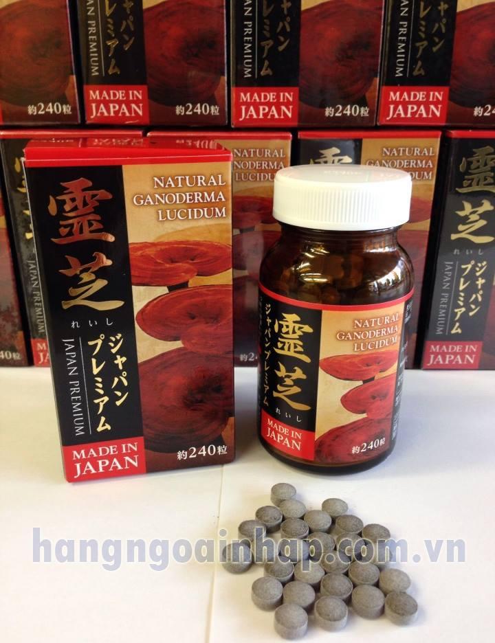 Nấm linh chi đỏ kết hợp Đông trùng hạ thảo  của Nhật 240 viên