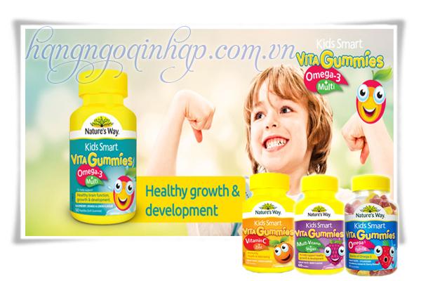 Nature's Way Kids Smart Vita Gummies Hộp 60 Viên Của Úc Cho Trẻ Biếng Ăn