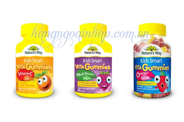 Nature's Way Kids Smart Vita Gummies  Của Úc Hộp 60 Viên