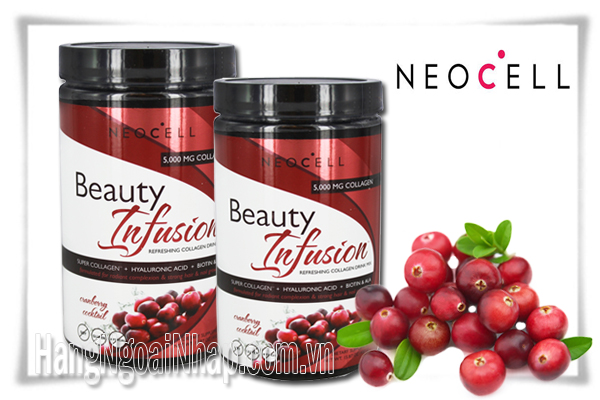 Neocell Collagen Beauty Infusion Cranberry Cocktail 5000mg Hộp 450g Của Mỹ
