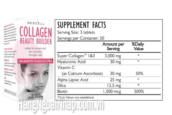 Collagen Beauty Builder NeoCell Hộp 150 Viên Của Mỹ