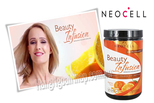 Neocell Collagen Beauty Infusion Hương Cam 5000mg  Của Mỹ Hộp 450g