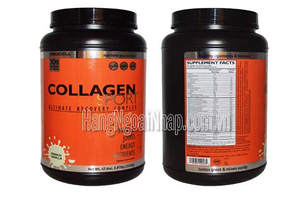 Thực phẩm dinh dưỡng thể thao Neocell Collagen Sport Vanilla Hộp 1350g Của Mỹ