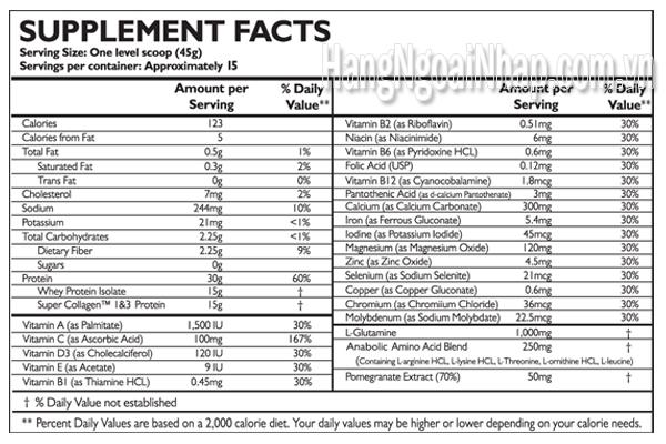 Neocell Collagen Sport Vanilla Hộp 1350g Của Mỹ Thực phẩm dinh dưỡng thể thao