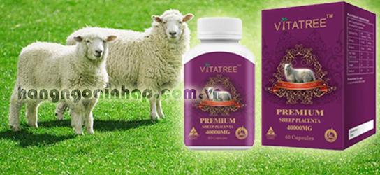 Nhau thai cừu của úc Vitatree Premium Placenta 40.000mg 60 viên