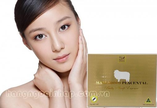 Nhau thai cừu của úc Maxi Placenta 50000mg 100 viên