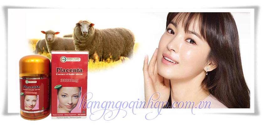 Nhau Thai Cừu Úc Golden Health 30000mg 100 Viên