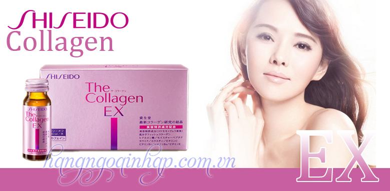 Collagen Shiseido EX dạng nước uống - 10 lọ 50ml- Nhật Bản