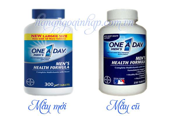 one a day men health formula 300 viên mẫu mới của mỹ