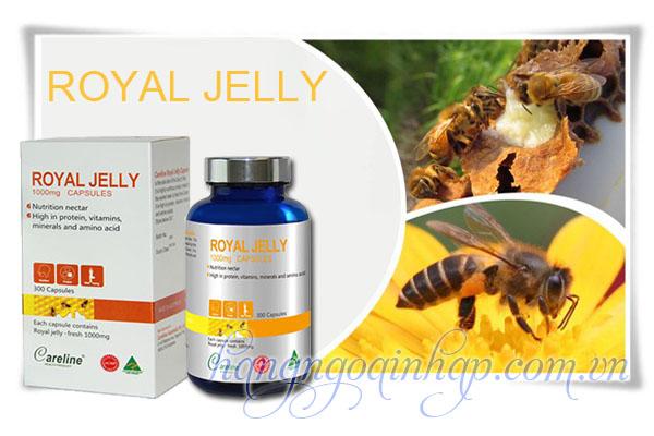 Sữa Ong Chúa Cao Cấp Royal Jelly Careline 1000mg 300 Viên