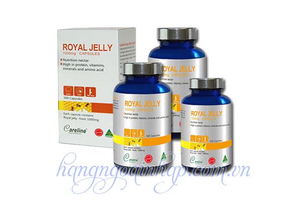 Sữa Ong Chúa Cao Cấp Royal Jelly Careline 1000mg 300 Viên Của Úc
