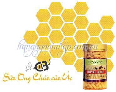 Sữa Ong Chúa Life Spring Royal Jelly 1000mg Hộp 360 Viên Của Úc