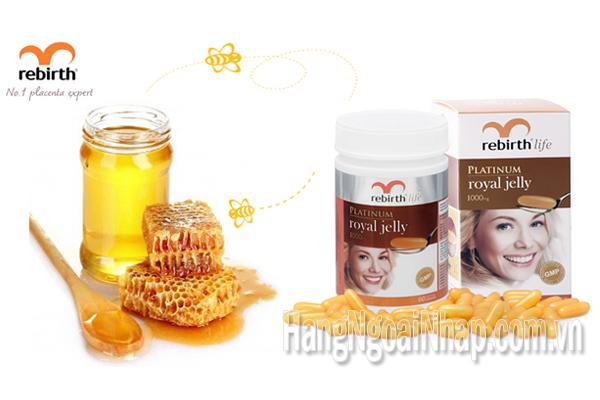 Sữa Ong Chúa Rebirth Life Platinum Royal Jelly 1000mg Hộp 60 Viên Của Úc