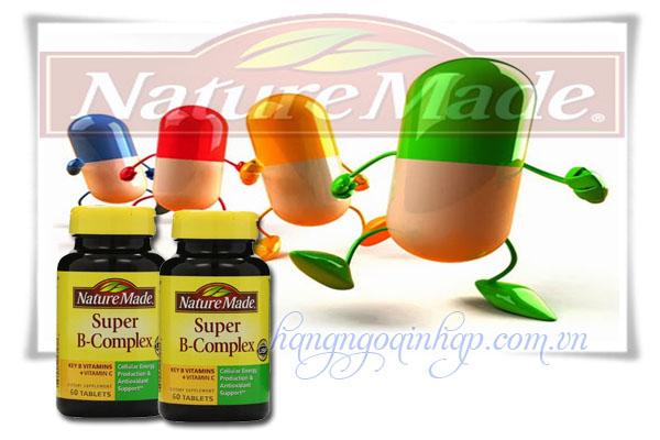 Nature Made Super B Complex 60 Viên Của Mỹ  Bổ sung vitamin B