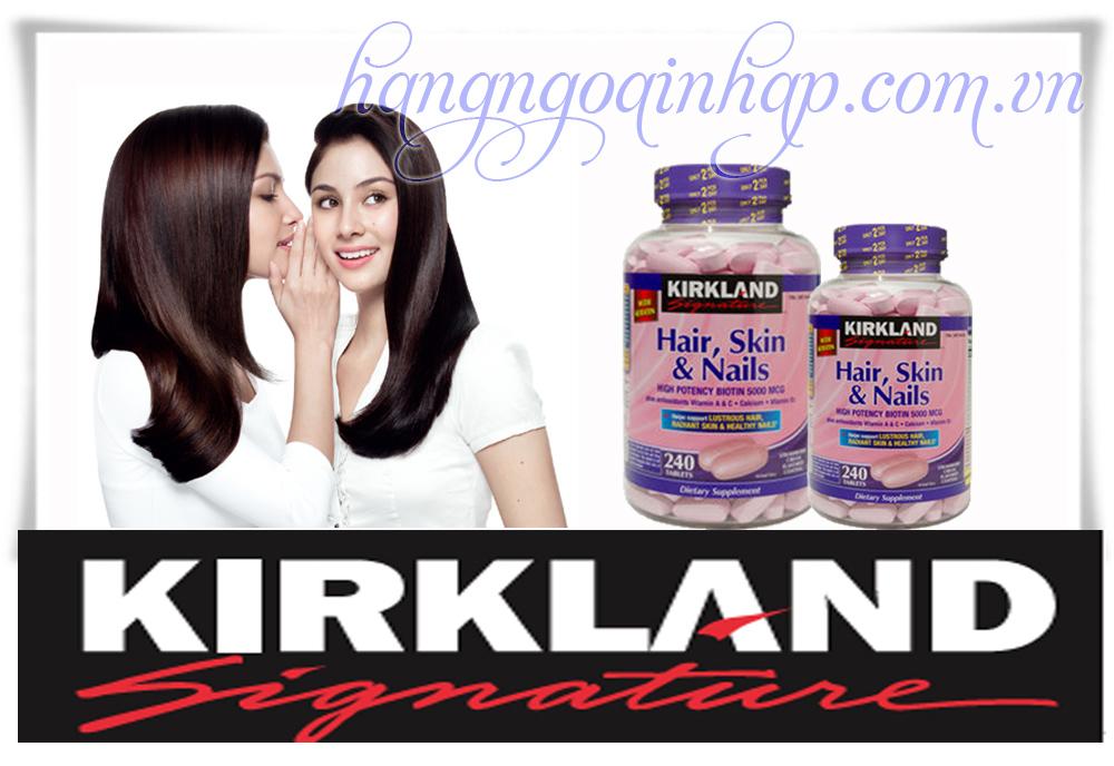 Thuốc Chống Rụng Tóc Hair Skin Nail Kirland  Của Mỹ Hộp 240 Viên