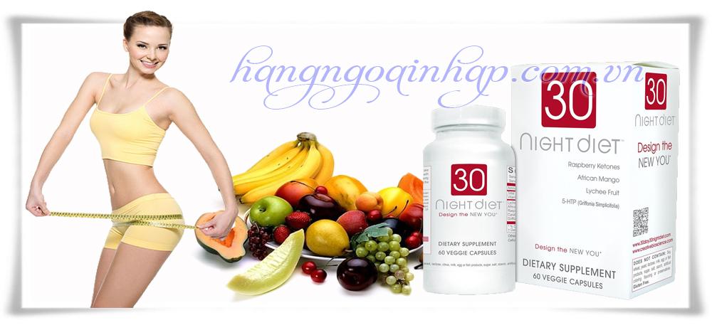 Thuốc Giảm Cân Chiết Xuất Thảo Dược Của Mỹ 30 Night Diet 60viên