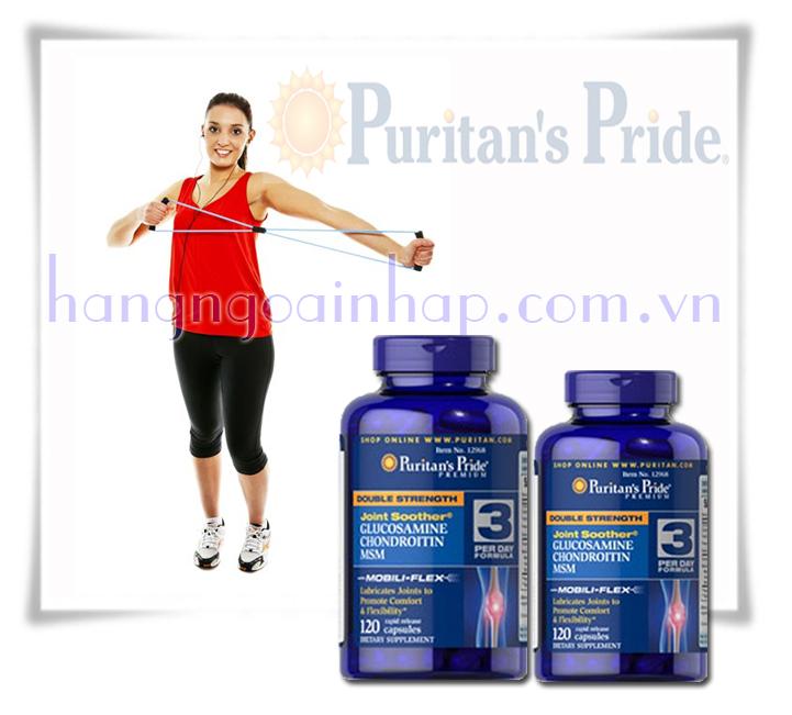 Glucosamine Chondroitin MSM Puritan's Pride Hộp 120 viên hổ trợ xương khớp