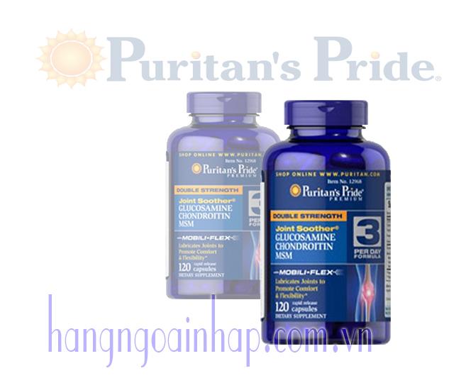 Viên uống xương khớp Glucosamine Chondroitin MSM Puritan's Pride 120 viên