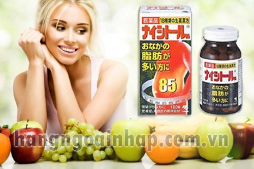 Viên giảm béo bụng số 85 của Nhật Bản 240 viên