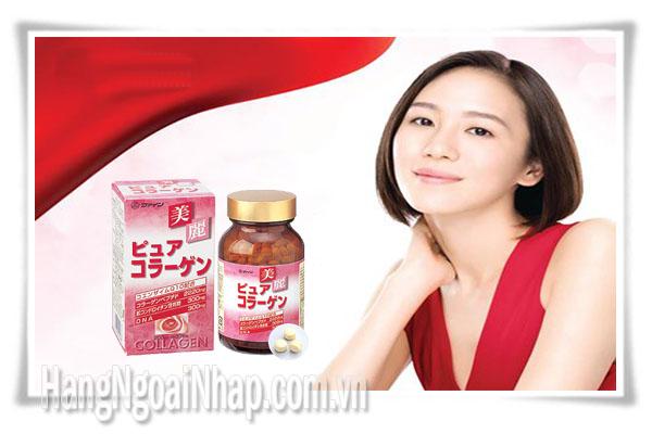 Viên Uống Bổ Sung Collagen  Fine Pure Collagen Hộp 375 Viên Của Nhật