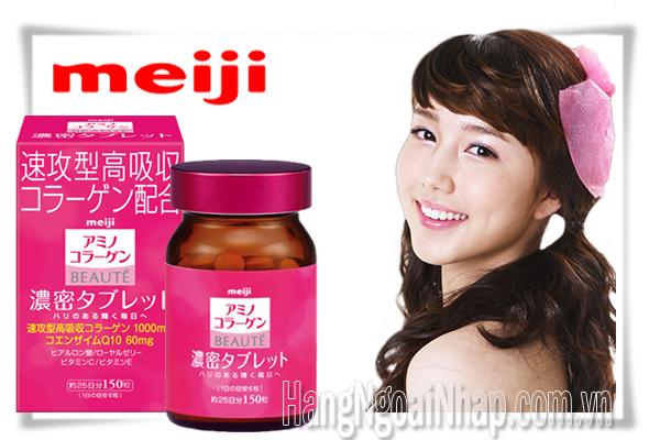 Viên Uống Đẹp Da Meiji Amino Collagen Beaute Hộp 150 Viên Của Nhật
