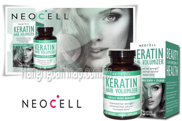 Viên Uống NeoCell Collagen Keratin Hair Volumizer Hộp 60 Viên Của Mỹ