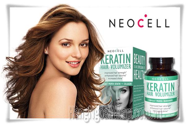 NeoCell Collagen Keratin Hair Volumizer  Của Mỹ Hộp 60 Viên