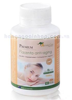 Nhau thai cừu Premium Placenta anti-aging của Úc 90 viên