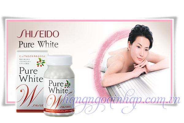 Viên Uống Trị Nám Trắng Da Shiseido Pure White  Của Nhật hộp 270 viên