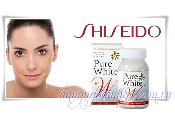 Viên Uống  Trắng Da Trị Nám Da Shiseido Pure White 270 Viên Của Nhật