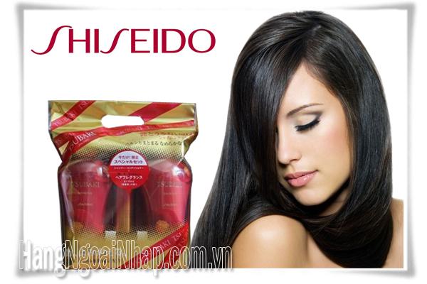Dầu Gội Bộ 3 Shiseido Tsubaki Màu Đỏ Của Nhật