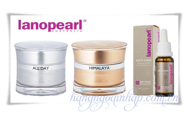 Bộ Trị Nám Làm Trắng Da Lanopearl Himalaya Whitening Gift Set 125ml Của Úc