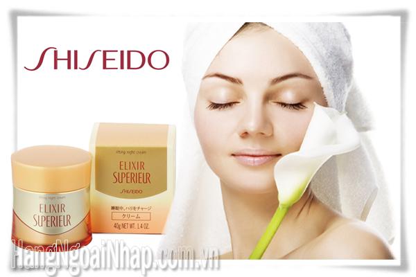 Kem Dưỡng Da Ban Đêm Elixir Shiseido Dành Cho Da Khô