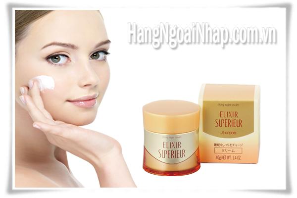 Kem Dưỡng Da Ban Đêm Cao Cấp Elixir Shiseido Dành Cho Da Khô
